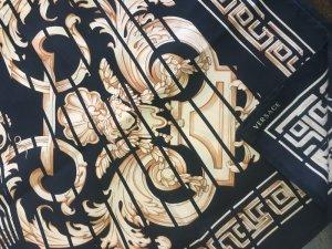 Versace Barocco Seide Tuch schwarz gold Scarf 90 x 90 cm neu