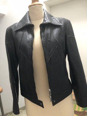 Versace Giacca in pelle nero Pelle