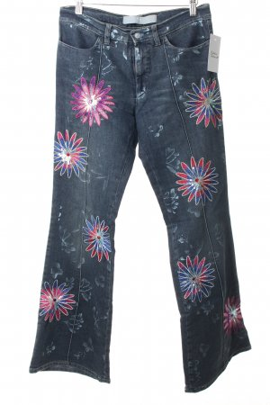 Versace Boot Cut Jeans Blumenmuster Street-Fashion-Look