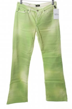 Versace Boot Cut Jeans neongrün Street-Fashion-Look