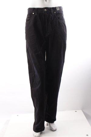 Versace Boyfriend-Jeans schwarz