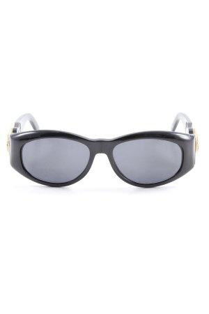 Versace Brille schwarz-goldfarben Elegant