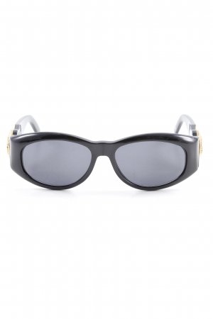 Versace Glasses black-gold-colored elegant
