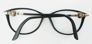 Versace Brillenfassung schwarz/gold