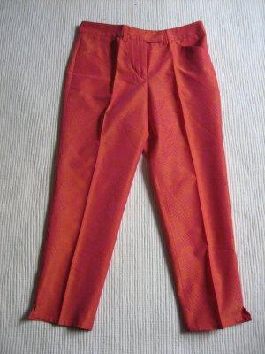 versace caprihose hose 7/8 neu lachs orange pink gr. s 36