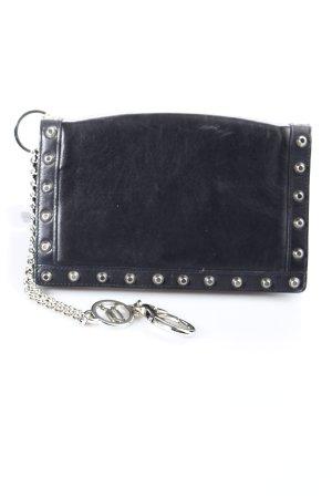 Versace Borsa clutch nero stile da moda di strada
