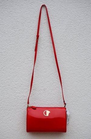 Versace Collection 2015 Lacktasche Tasche Rot Gold Crossbody Clutch