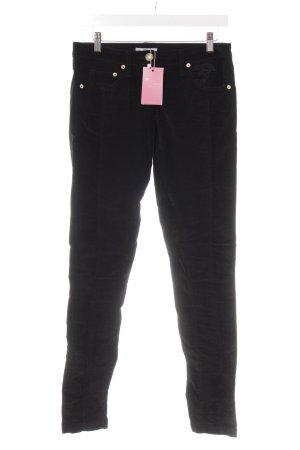 Versace Collection Pantalone di velluto a coste nero effetto velluto