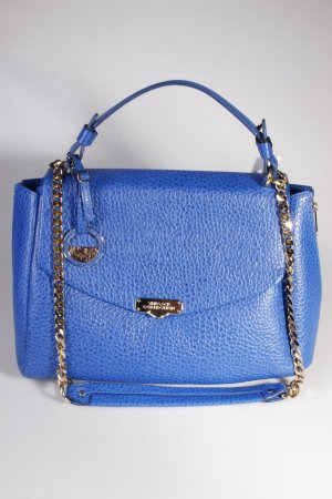 Versace Collection Handtasche Handbag Vitello Stampa Bufalo Bluette/Oro Chiaro
