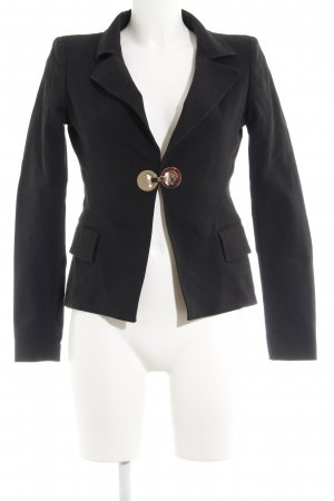 Versace Collection Kurz-Blazer schwarz Business-Look