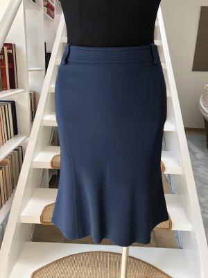 Versace Gonna midi blu acciaio