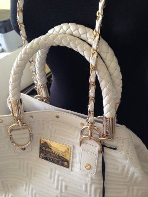 Versace Shopper white leather