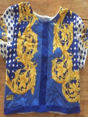 Versace Cropped shirt goud-blauw