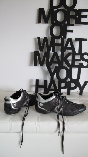 Versace Sneaker stringata nero-argento