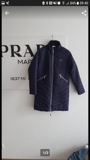 Versace Down Coat dark blue
