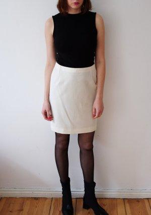 versace designer bleistiftrock creme weiß highwaist minimal S original VERSACE bleistiftrock in cremeweiß