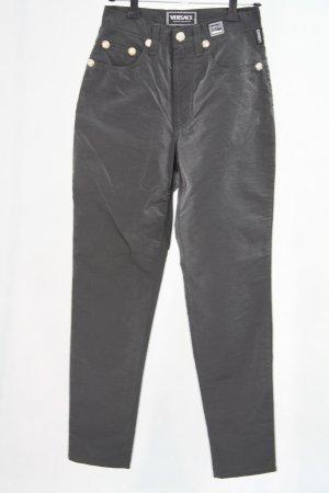 Versace Dunkelgraue Hose mit Metall-Optik