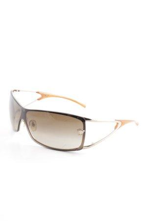 Versace eckige Sonnenbrille hellbraun-dunkelorange Casual-Look
