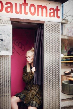 Versace Plaid Skirt glen check pattern extravagant style