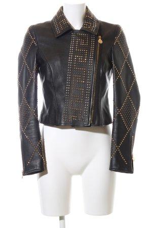 Versace for H&M Lederjacke schwarz extravaganter Stil