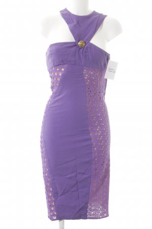 Versace for H&M Midi Dress lilac loosely knitted pattern extravagant style