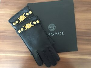 Versace Gloves black leather