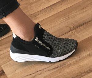 Versace Sneaker slip-on argento