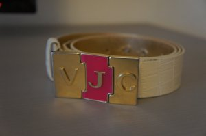 Versace Jeans Belt white leather