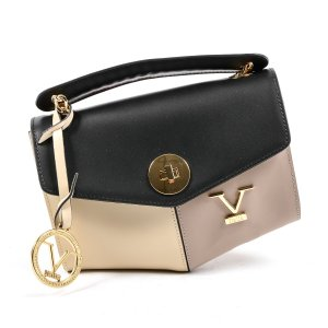 Versace Borsa telaio nero-crema