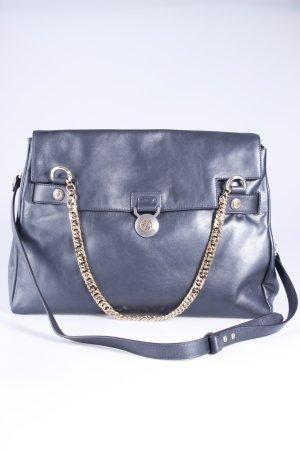 Versace Handtasche Vitello Perlato schwarz