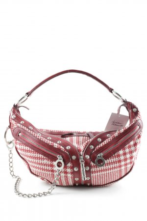 Versace Carry Bag dark red-cream houndstooth pattern vintage products