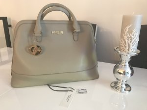 Versace Carry Bag silver-colored leather