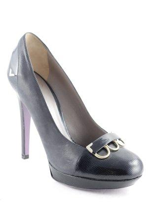 Versace High Heels schwarz-goldfarben Business-Look
