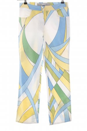Versace High Waist Trousers allover print casual look