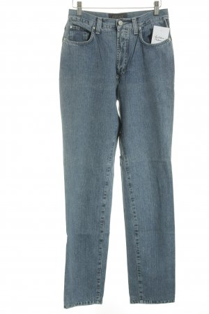Versace High Waist Jeans blau Street-Fashion-Look