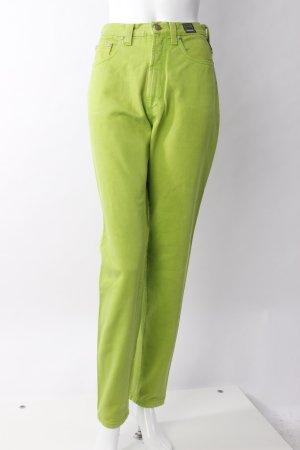 Versace High Waist Jeans neongrün