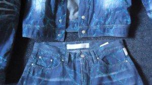 Versace Pantalone blu acciaio-blu Cotone