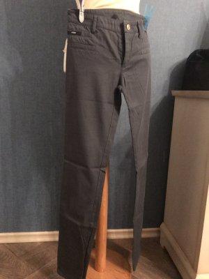 VERSUS Versace Lage taille broek zilver-grijs