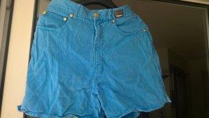 Versace Pantaloncino di jeans blu neon Cotone