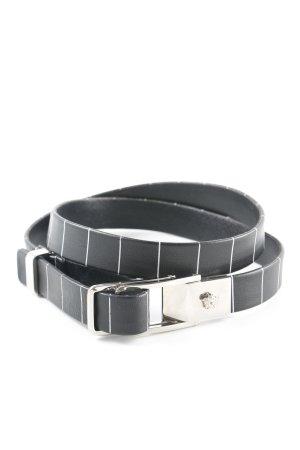 Versace Cintura fianchi nero motivo a righe stile casual