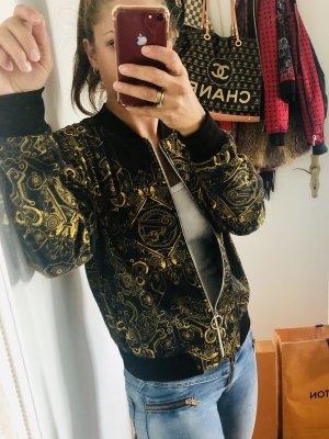 Versace Giacca college nero-oro