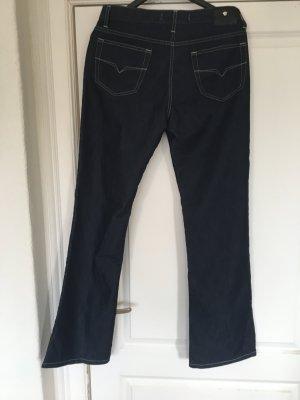 Versace Jeans Couture Pantalón de cinco bolsillos azul Algodón