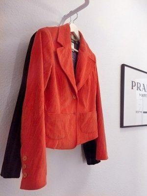 Versace Jeans Couture Blazer - Orangerot, Samt