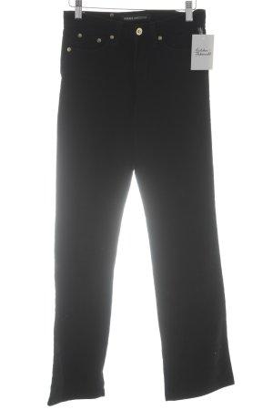 Versace Jeans Couture Cordhose schwarz extravaganter Stil