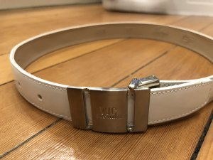 Versace Jeans Couture Leather Belt white