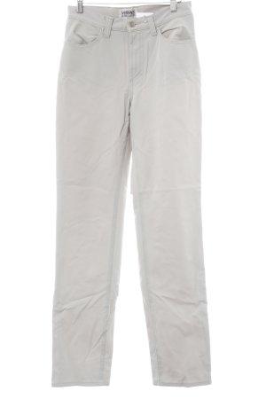 Versace Jeans Couture Pantalón de cintura alta gris claro estilo dandy