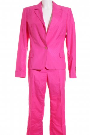 Versace Jeans Couture Hosenanzug neonpink grafisches Muster Business-Look