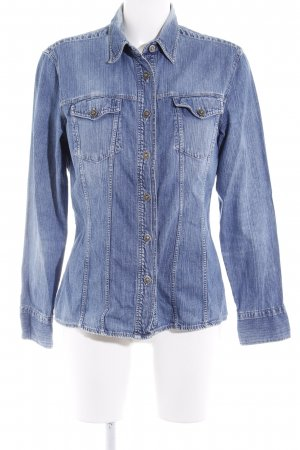 Versace Jeans Couture Jeanshemd stahlblau Casual-Look