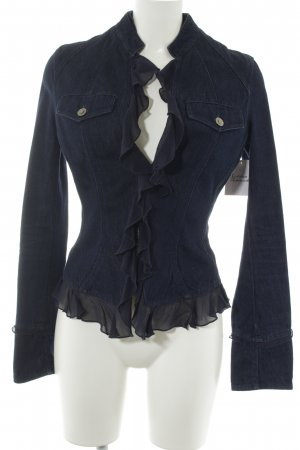Versace Jeans Couture Jeansjacke dunkelblau Casual-Look
