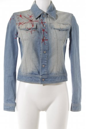Versace Jeans Couture Jeansjacke himmelblau Washed-Optik